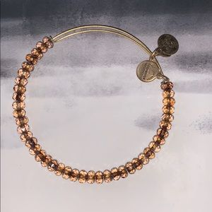 Alex & Ani Brown Glass Bead Bracelet